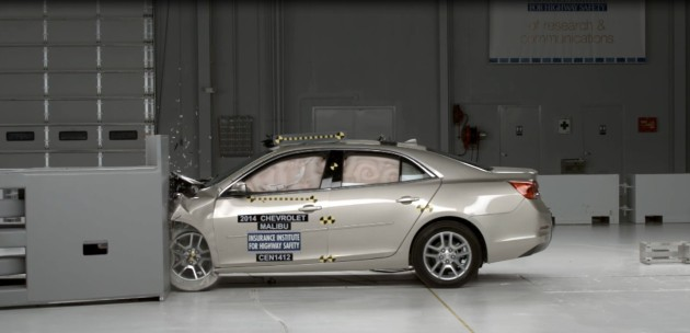 Chevrolet Malibu Earns IIHS 2014 Top Safety Pick+ Rating